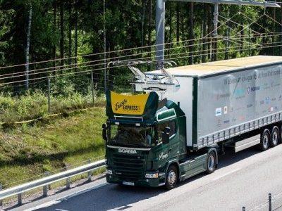Experimental hybrid trucks hit the road in Sweden